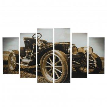 Картина модульная на подрамнике ретро автомобиль 2-25*57,5;2-25*74,5;2-25*