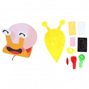 Набор для творчества - создай улитку из водушного шарика и фетра, цвет жел