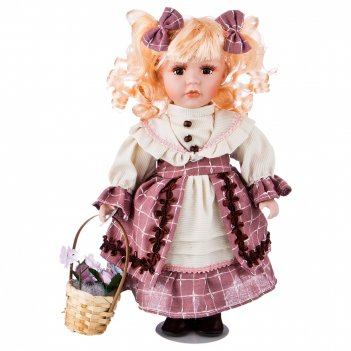 Кукла фарфоровая декоративная высота=30 см.