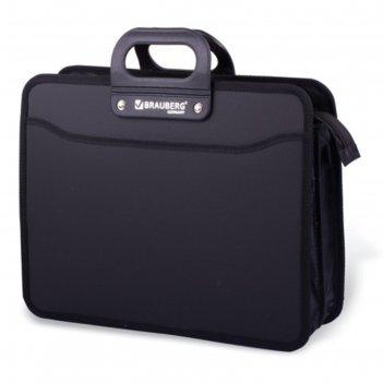 Портфель пластиковый brauberg, премьер, а4, 390х315х120 мм, 3 отделения, н