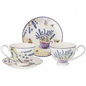 Чайный набор на 2 персоны прованс лаванда 4пр. 250 мл (кор=12наб.)