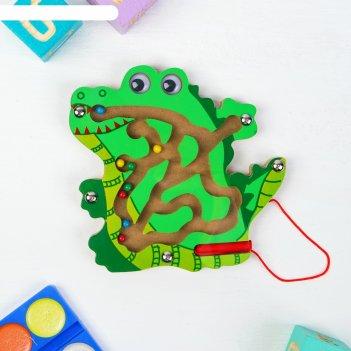 Лабиринт логический крокодил