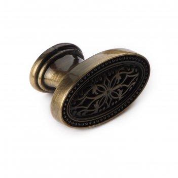 Ручка-кнопка boyard rc415bab, цвет античная латунь