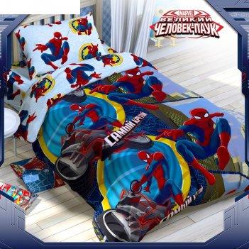 Постельное бельё 1,5 сп человек-паук: самый крутой, размер 143х215 см, 150