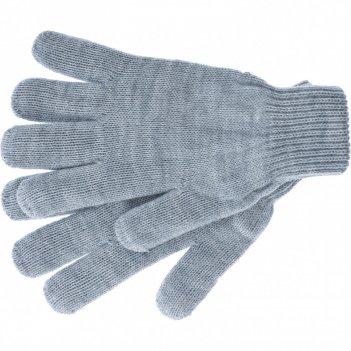 Перчатки трикотажные, акрил, серая туча, двойная манжета россия сибртех