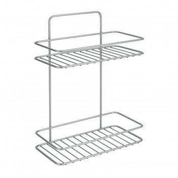 Полка для ванной 2-х уровневая 26х13х35 см