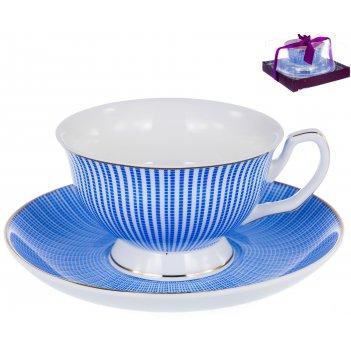 Набор чайный палитра «арабеска лазурная» 200 мл, 2 предмета