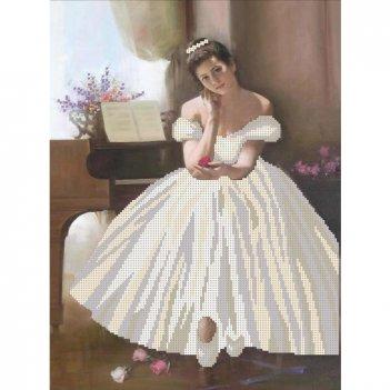 """Рисунок для вышивания бисером """"балерина"""""""