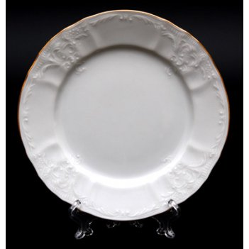 Набор тарелок bernadotte бернадот белый 17см. 6шт.