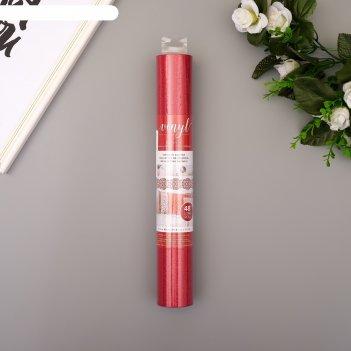 Клеевой винил american crafts crimson glitter 30.5х120 см