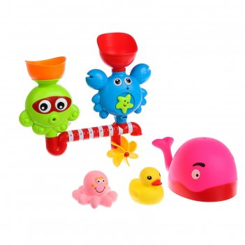 Набор игрушек для ванны «чудилки», 4 шт.