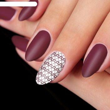 Трафарет для ногтей «треугольники», цвет золотой