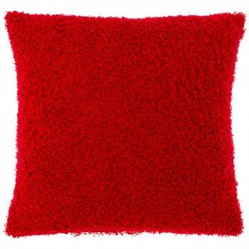 Подушка декоративная 35х35см  мини ,букле, красный,100% пэ