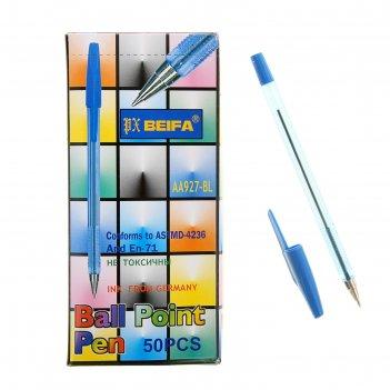 Ручка шариковая beifa аа927, стержень синий, узел 0.7 мм