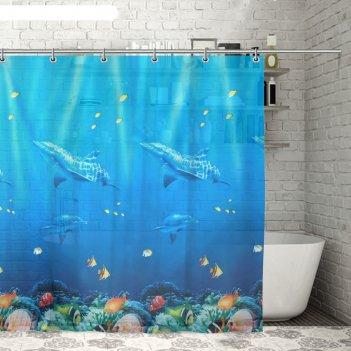 Штора для ванной морская