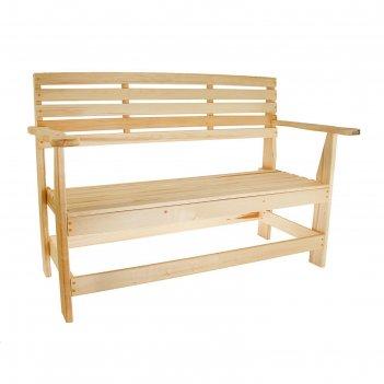Скамейка нераскладная с подл. (наличник) 1200*550*900