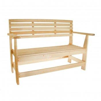 Скамейка с подлокотником, наличник 140x55x90см добропаровъ
