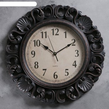 Часы настенные, серия: интерьер, лаура, d=55 см