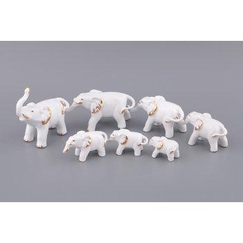 Комплект слоников из 7 шт.высота=11/6/5,5/5/4/3,5/...код