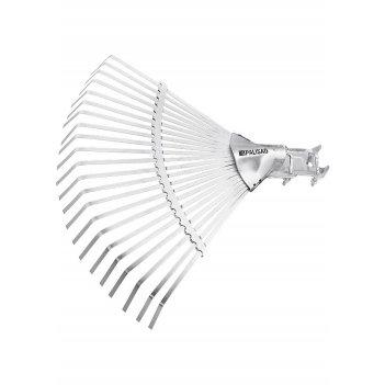 Грабли веерные стальные, 380 мм, 22 плоских зуба, регулируемая тулейка, бе