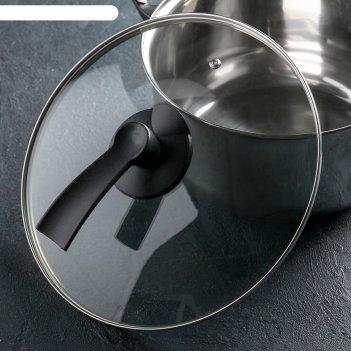 Крышка стеклянная d=28 см lux, ручка микс