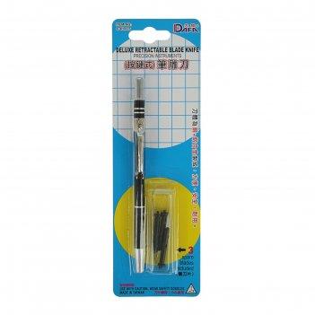 Инструмент для творчества нож с выдвижным лезвием+3 лезвия пластик, металл