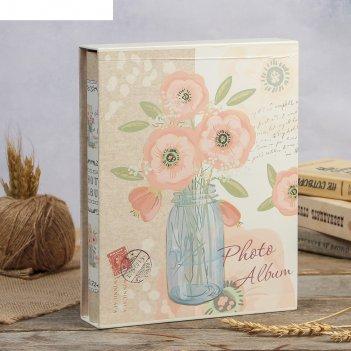 Фотоальбом магнитный 20 листов цветы в банке в коробке микс 29,3х23,5х5,7