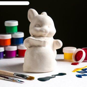 Копилка-раскраска заяц с мешком