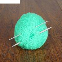 Спицы для вязания жгутов прямые, 2 шт, d=2,5-5,0 мм, 11-12см