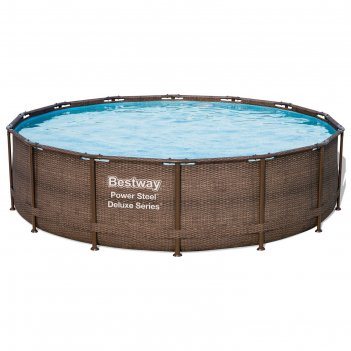 Бассейн каркасный круглый power steel deluxe, 427 х 107 см, фильтр-насос,