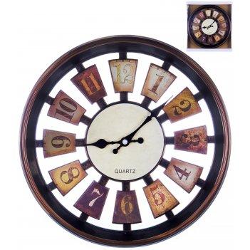 Часы настенные круглые home art «рулетка темный» 30,5 см