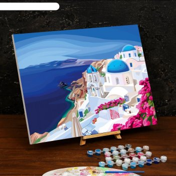 Картина по номерам на холсте с подрамником «греция» 40x50 см