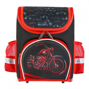 Ранец каркасный красный мотоцикл
