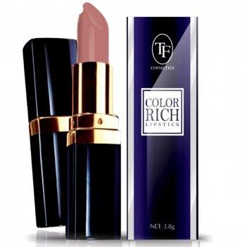 Помада tf color rich lipstick матовая, тон 52 насыщенный красный
