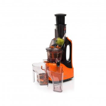Соковыжималка oursson jm7002/or, 240 вт, 1 скорость, черно-оранжевая