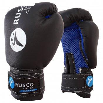 Перчатки боксерские rusco sport детские кож.зам. 6 oz черные