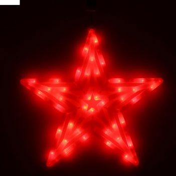 Фигура звезда d-60 см, , 30 led, 220v, контрол. 8р. красный