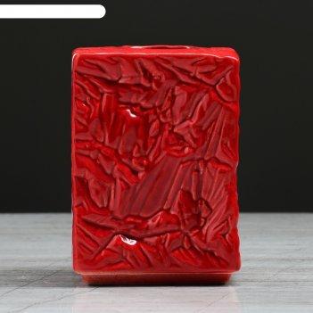 Ваза настольная кристалл, красная, 11 см
