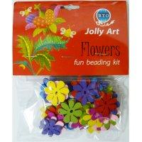 Цветные деревянные бусины jolly art, 50± шт