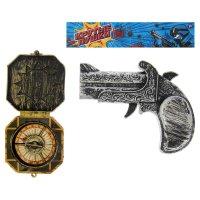 Набор пирата синие море: мушкет, компас