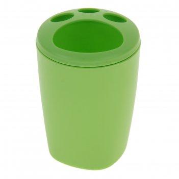 Подставка для зубных щеток aqua, зеленая