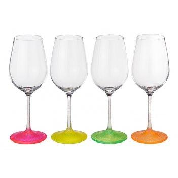 Набор бокалов для вина из 4 шт.neon frozen 350 м...