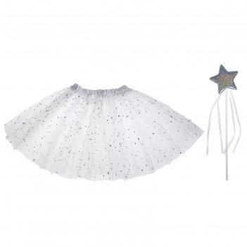 Карнавальный набор звёздочка 2 предмета: жезл, юбка двухслойная