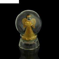 Сувенир световой ангелочек в шаре, микс