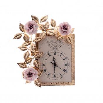 Часы rectangular medio rosaperla