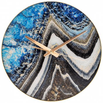 Часы настенные кварцевые турмалин 36,7*36,7*5,5 см (кор=8 шт.)