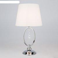Настольная лампа madera 60вт e14 хром