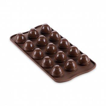 Форма для приготовления конфет choco spiral, материал: силикон, цвет: кори