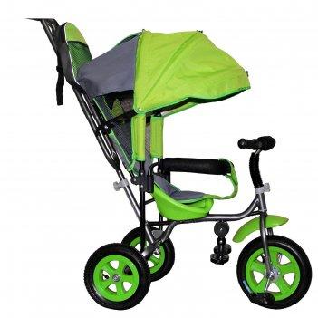 Велосипед трехколесный лучик малют 1, надувные колёса 10/8, цвет салатовый