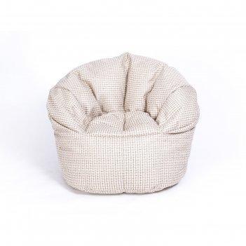 Кресло бескаркасное «релакс люкс», бежевый, рогожка